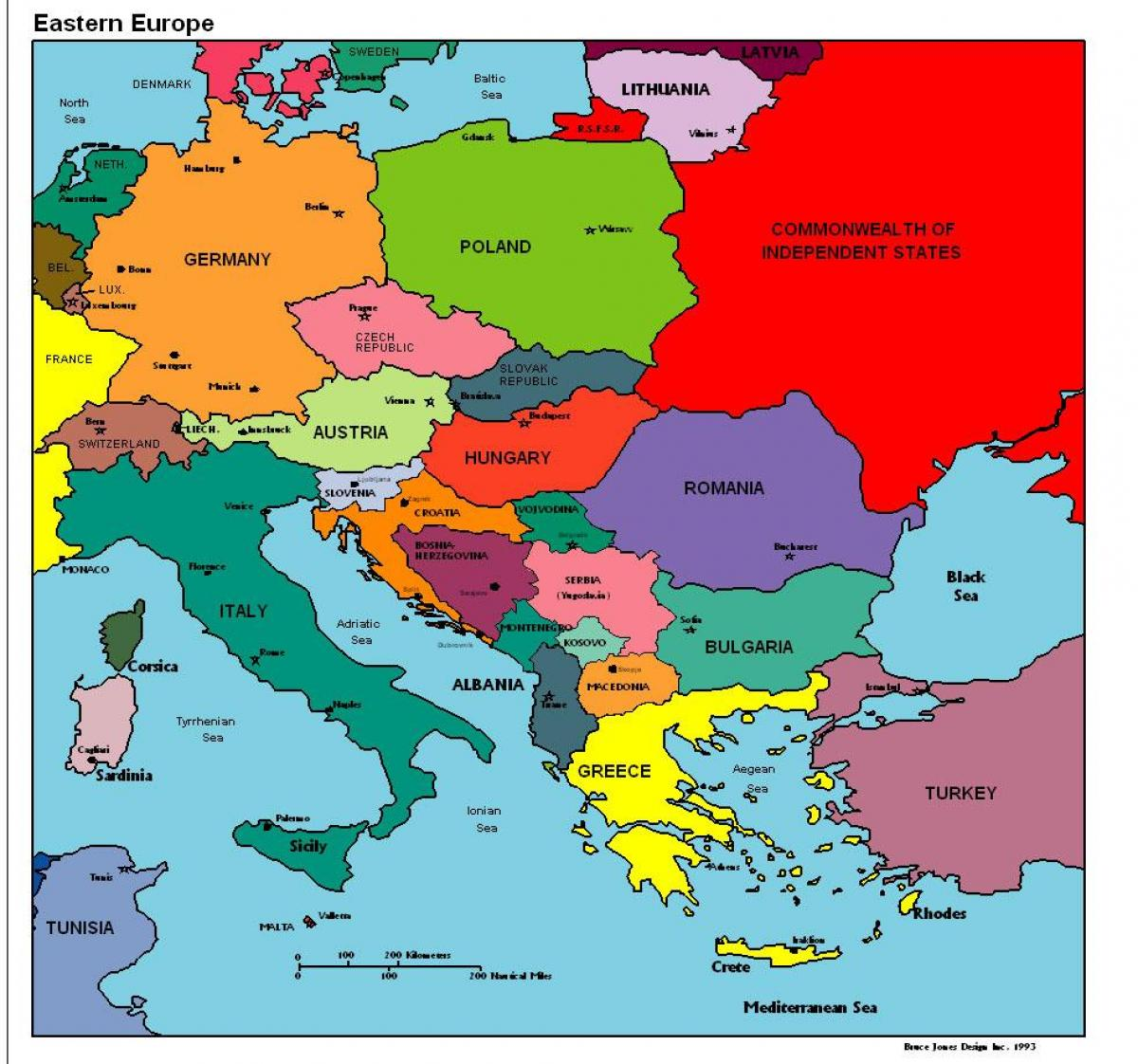Albaniya Karte Evropy Na Karte Evropy Albaniya Yuzhnaya Evropa Evropa