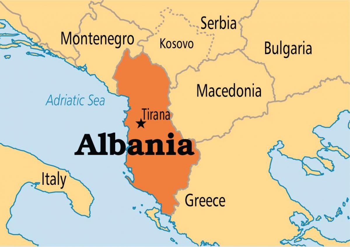 Karta Albanii I Sosednih Stran Albaniya Karta Strany Yuzhnaya